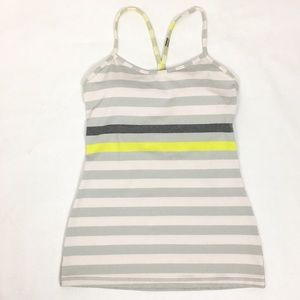 Lululemon Striped Athletic Racerback Tank